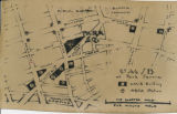 Hand drawn map of Park Square...