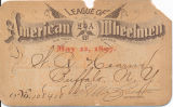 1896 LAW membership card