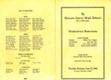 1946 Varnum Junior high School Graduation Program