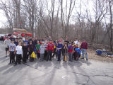 Group photo of Troop 95 canoe trip on Neponset River
