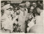 General Douglas MacArthur Visits Waltham and Shows off his new Waltham Pocket Watch